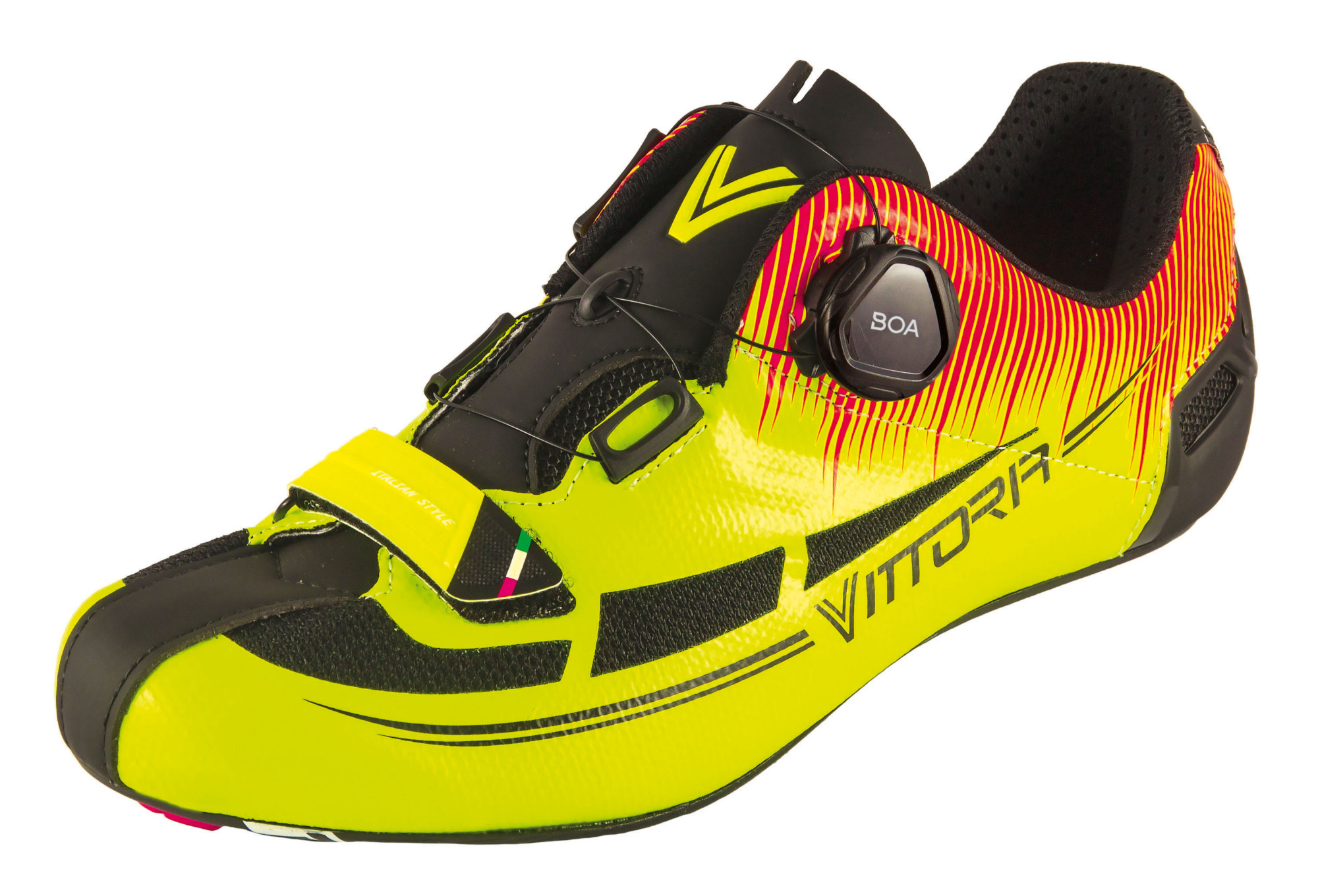 Fusion Pro Road Shoes Vittoria Fusion Pro Yellow Black Red