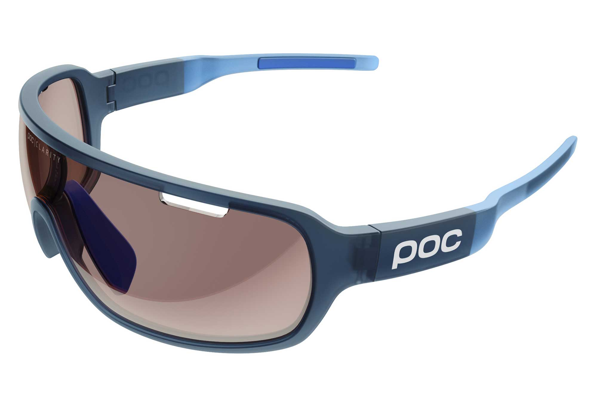 Mirror Frame Glasses Poc Do Blade Glasses Lead Blue Translucent Furfural Blue Brown Light Silver Mirror