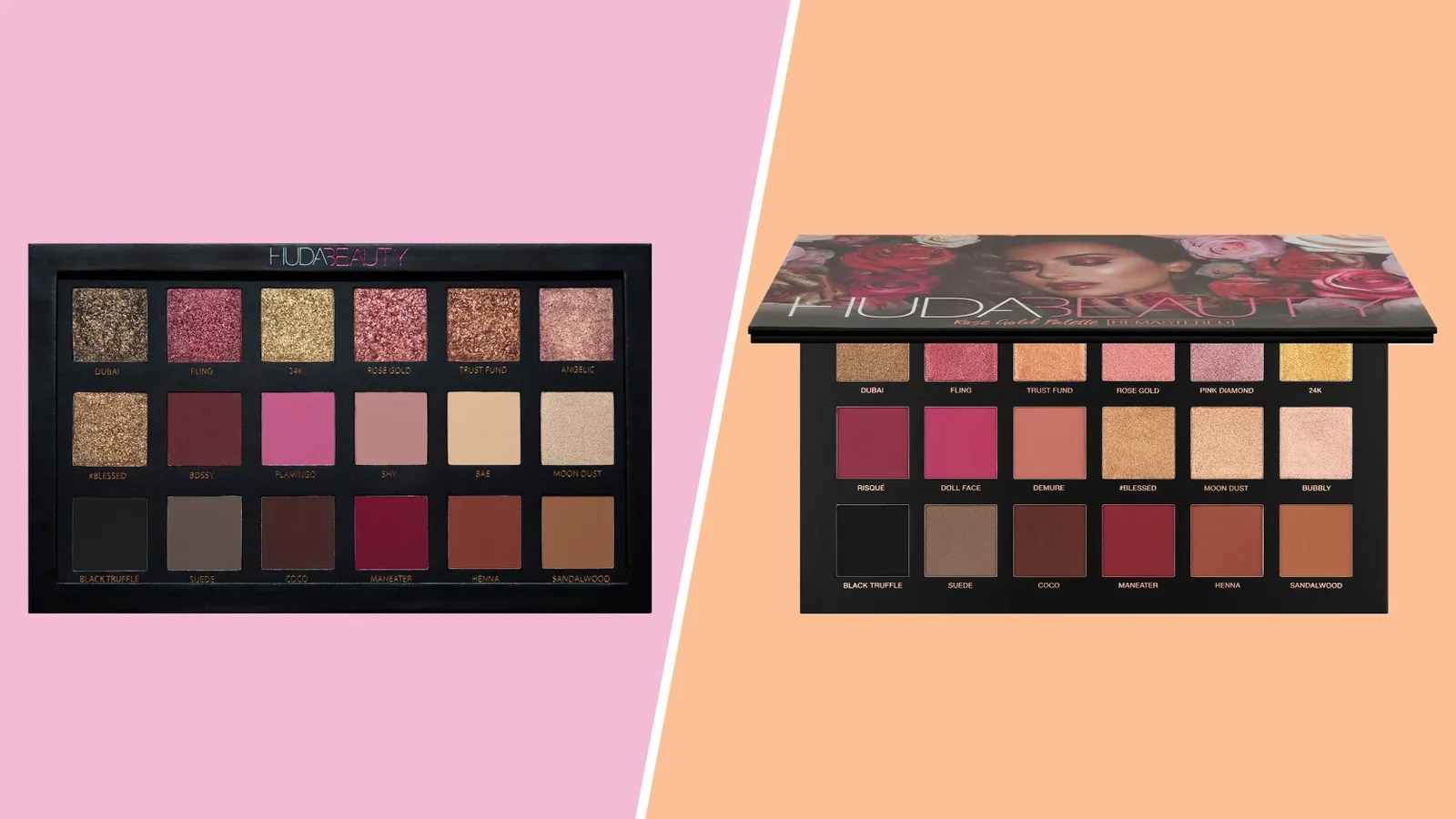 Paletten Bilder How Huda Beauty S Rose Gold Remastered Palette Differs From The