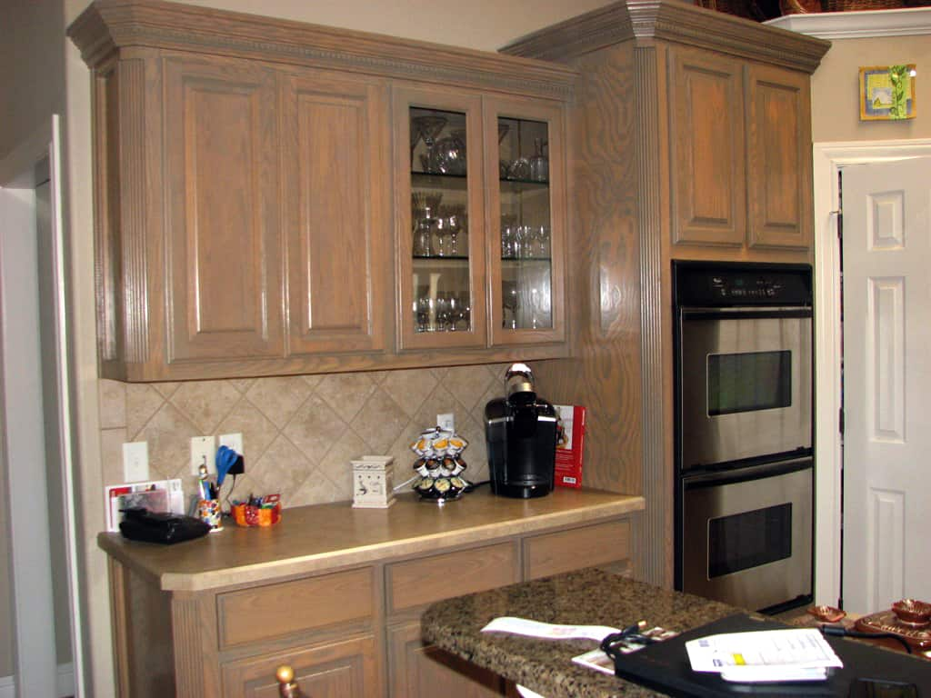 Used Kitchen Cabinets Houston Tx How Much Does It Cost To Stain Cabinets Angie S List