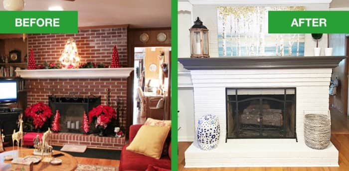 Dated Brick Fireplace Gets Painted White Angie39s List