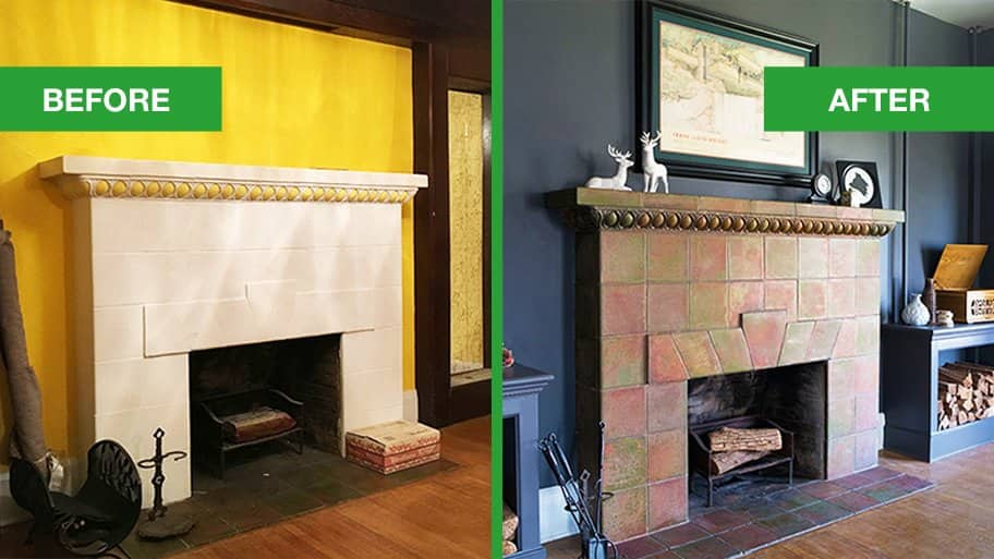 Fireplace Redo Returns Mantel From 1900 To Present Angie