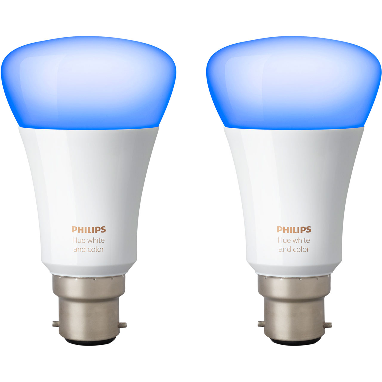 Philips Hub Philips Hue White And Colour Ambiance B22 Twin Pack A Rated
