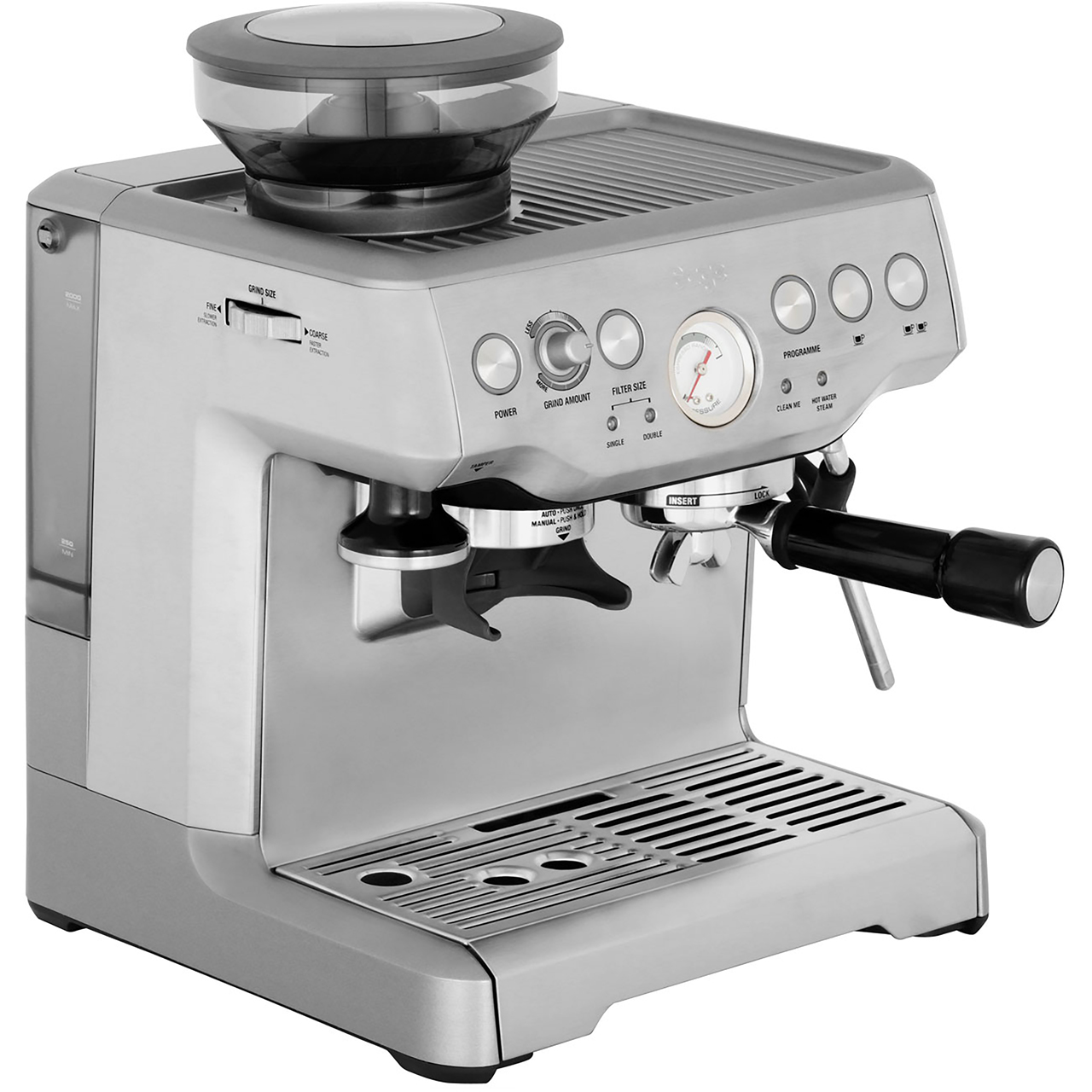Machine A Cafe Sage The Barista Express Bes875uk Espresso Coffee Machine With Integrated Burr Grinder Brushed Steel
