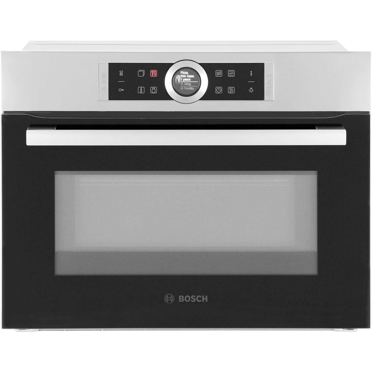 Bosch Microwave Bosch Serie 8 Cmg633bs1b Built In Compact Electric Single Oven With Microwave Function Brushed Steel
