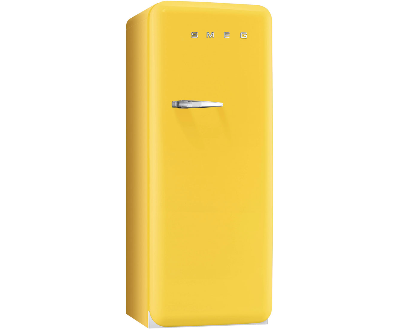 Yellow Fridge Freezer Smeg Fab28qg1 Right Hand Hinge Free Standing 60cm 222