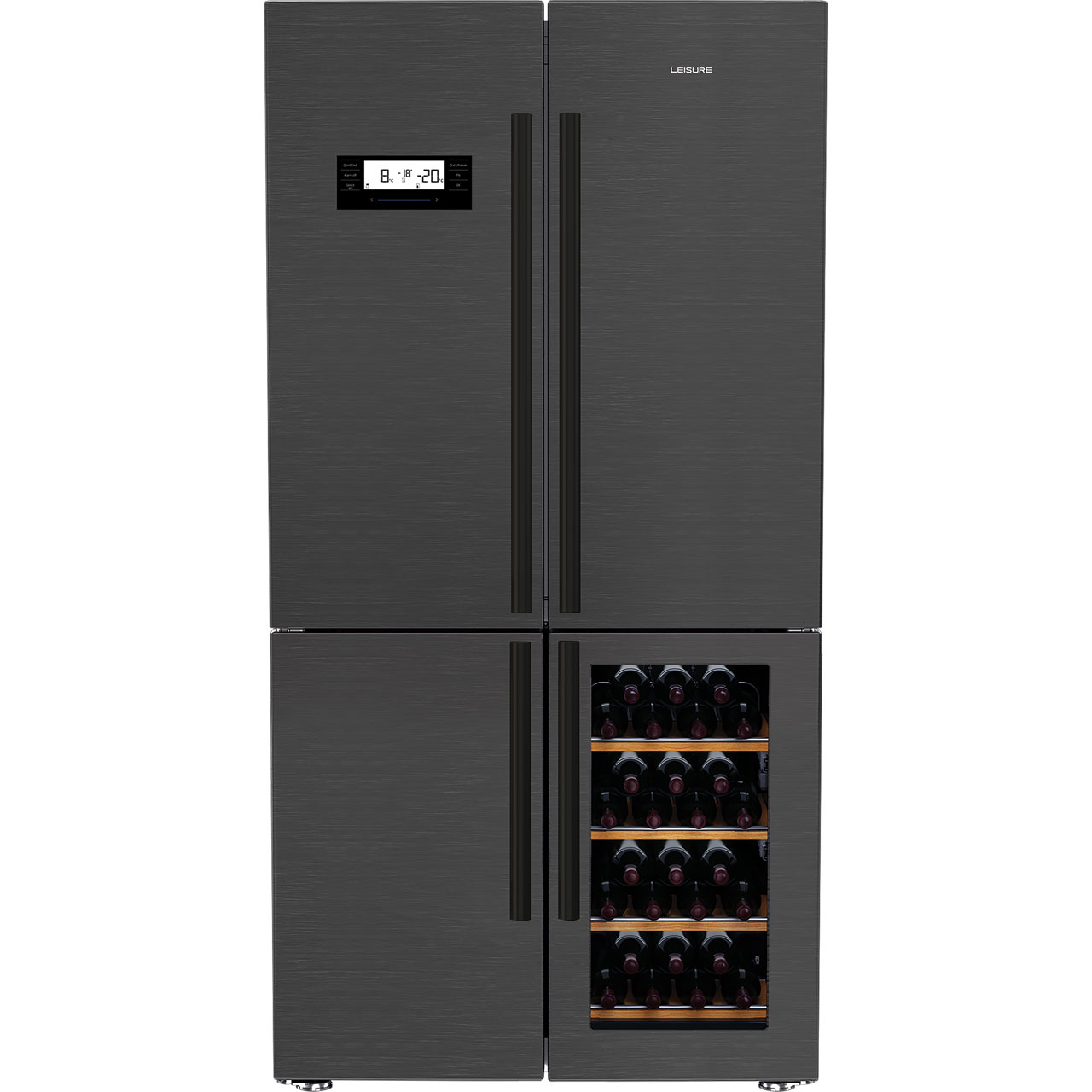 Fridge Freezer Leisure Lm16251wz American Fridge Freezer Dark Steel A Rated