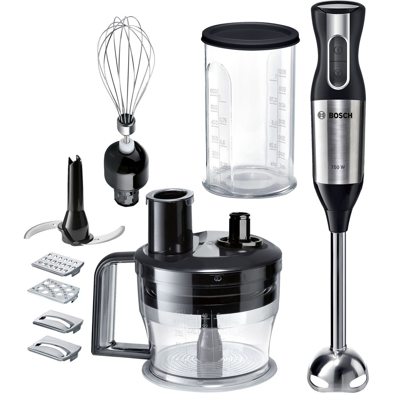Bosch Blender Bosch Msm6s90bgb Hand Blender With 5 Accessories Black Silver