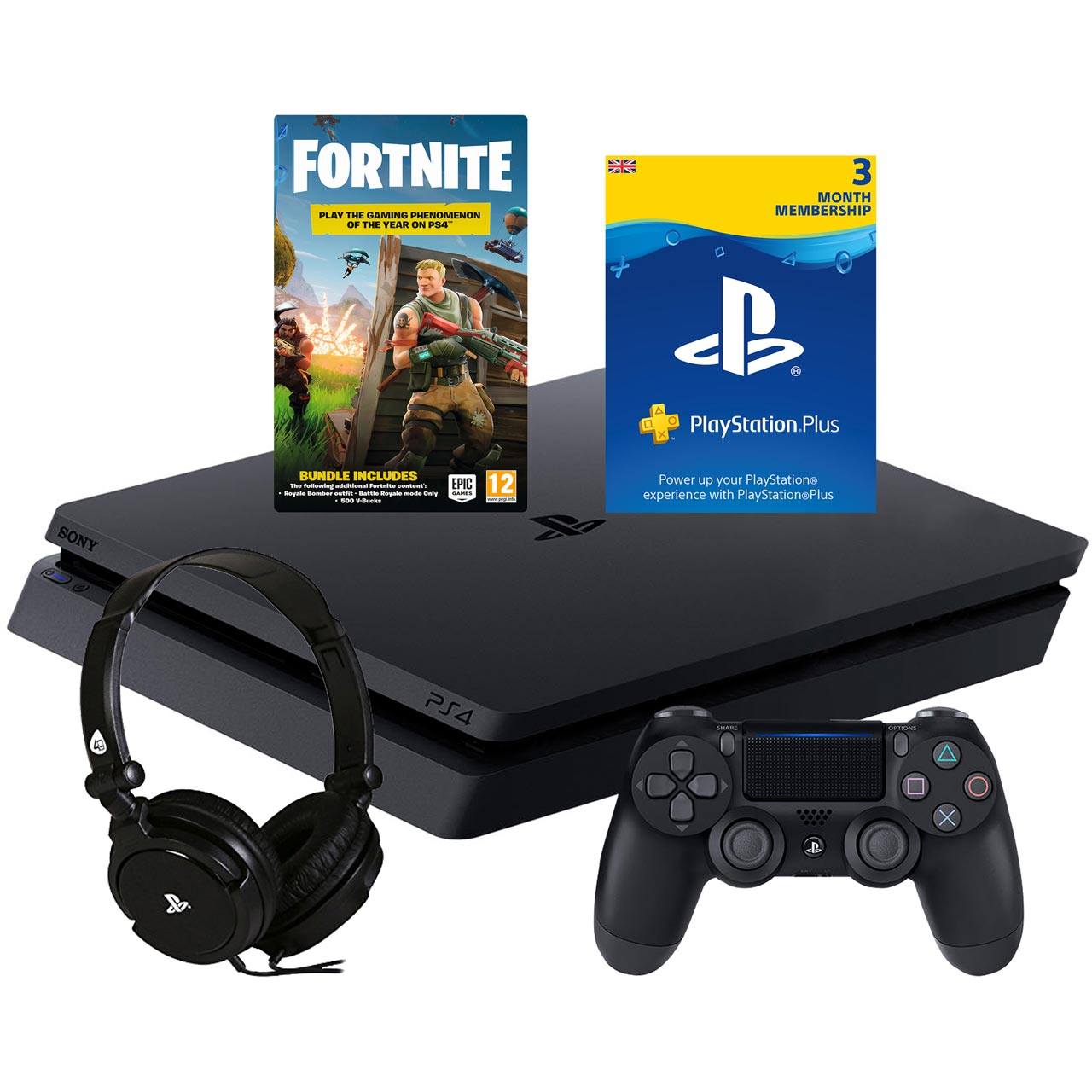 Playstation Contact Sony Playstation P4headcst54809 Ps4 Fortnite Bundle 43 Ps
