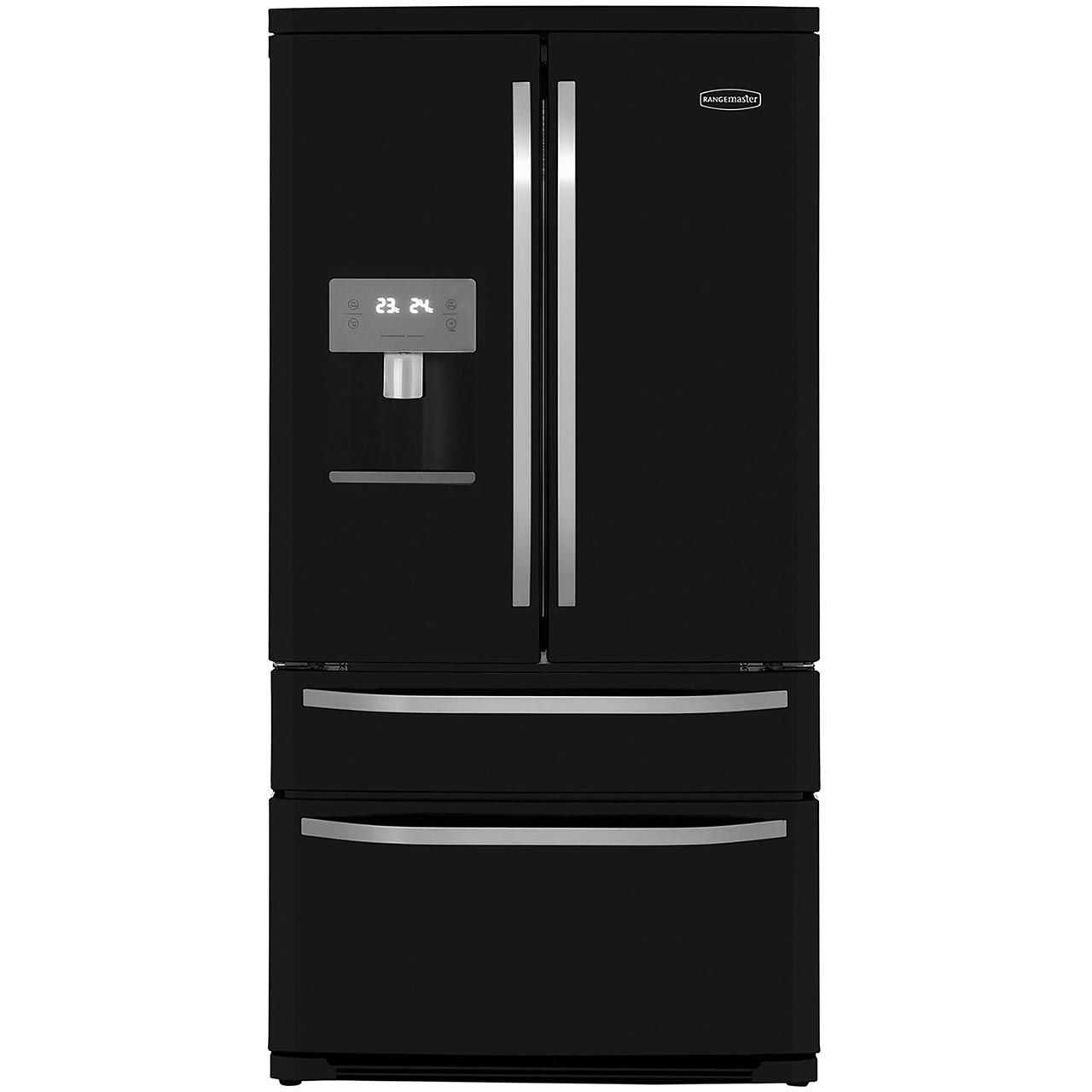 Zanussi Zrg16605wa Rangemaster American Fridge Freezer Black Kitchen And