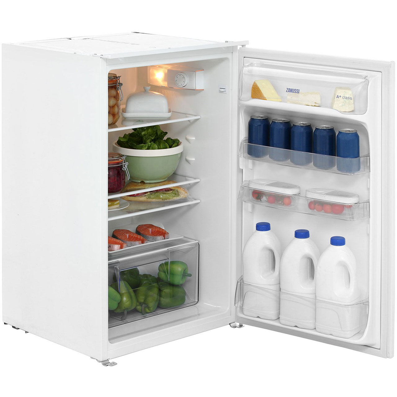 Zanussi Zrg16605wa Zanussi Larder Fridge Shop For Cheap Fridges And Save Online