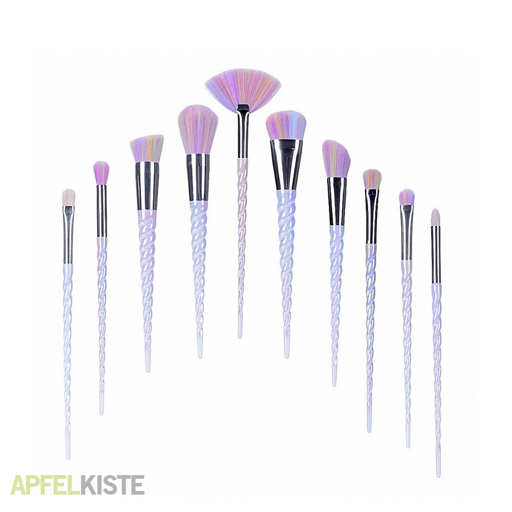 Pinsel Set 10 Teiliges Einhorn Beauty Make Up Puder Pinsel Set Mit Tasche Rosa