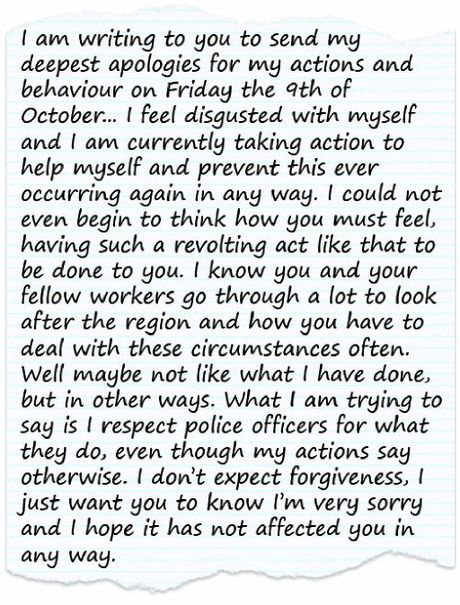 Man wrote apology letter to policeman he spat on Mackay Daily Mercury