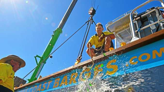 Barge launch marks double business milestones Sunshine Coast Daily