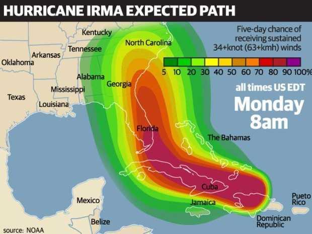 Dramatic image shows where Hurricane Irma may be headed Byron