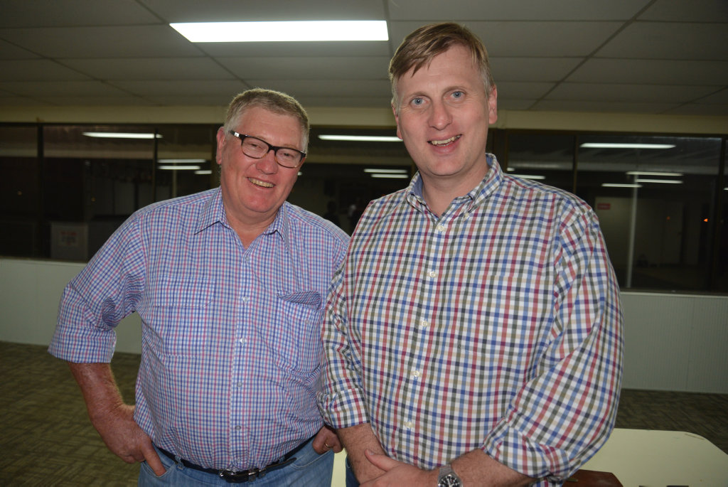 Peter Tomkins and Member for Southern Downs James Lister at