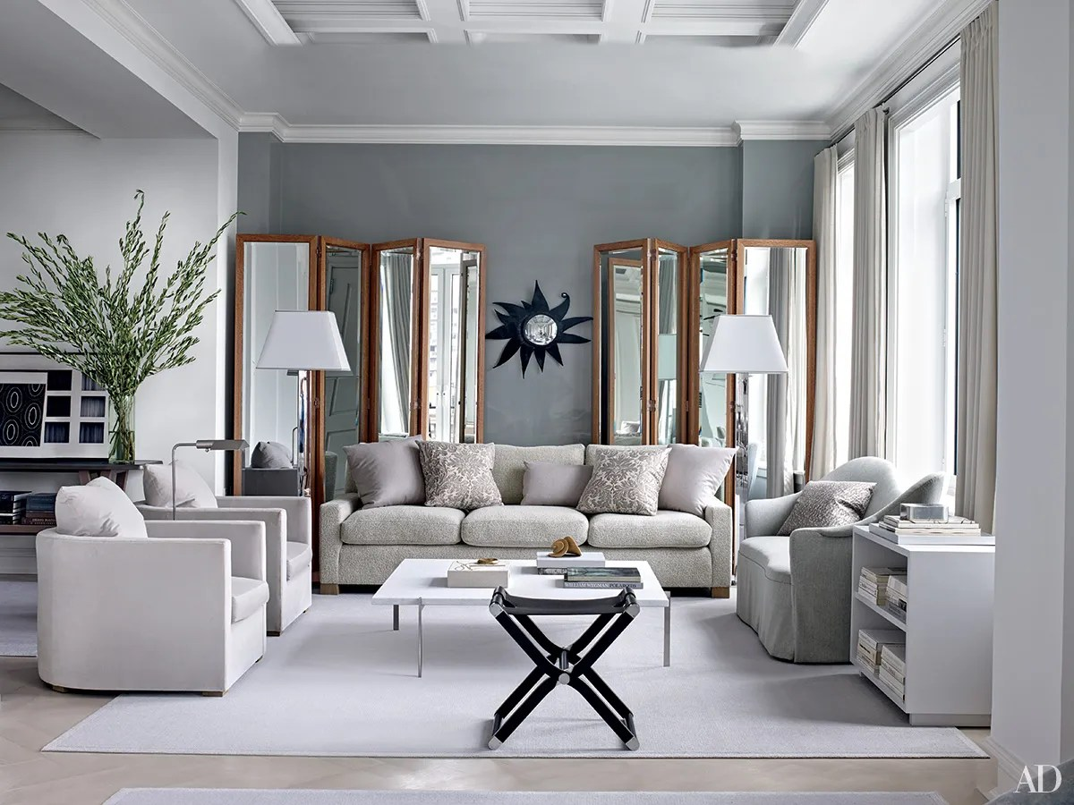 Living Room With Grey Sofa Inspiring Gray Living Room Ideas Architectural Digest