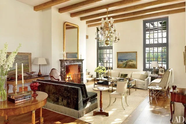 Fireplace Ideas and Fireplace Designs Photos Architectural Digest - the living room center