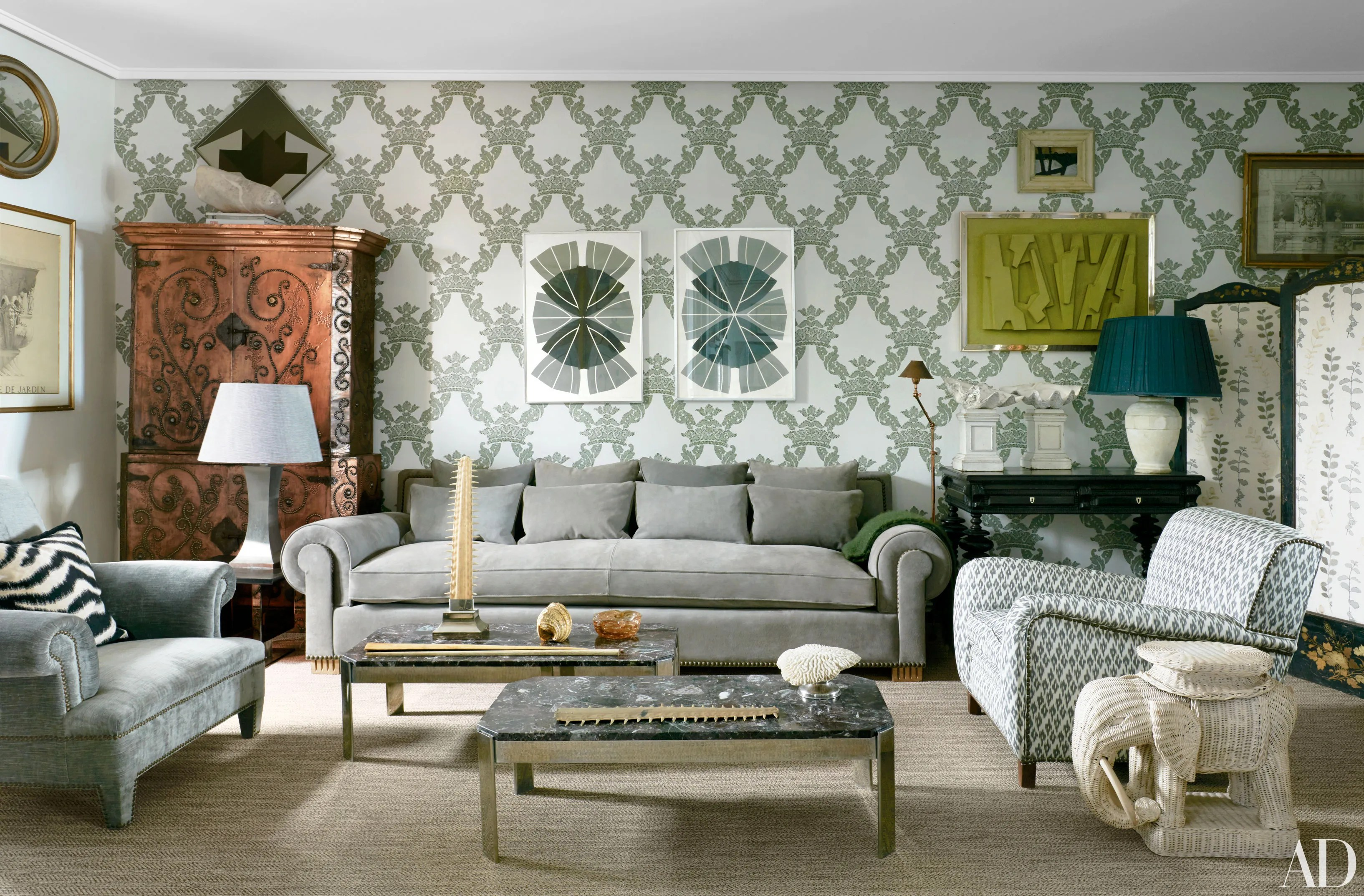 Sofa Design Grey Colour How To Mix Pattern Like A Pro | Architectural Digest