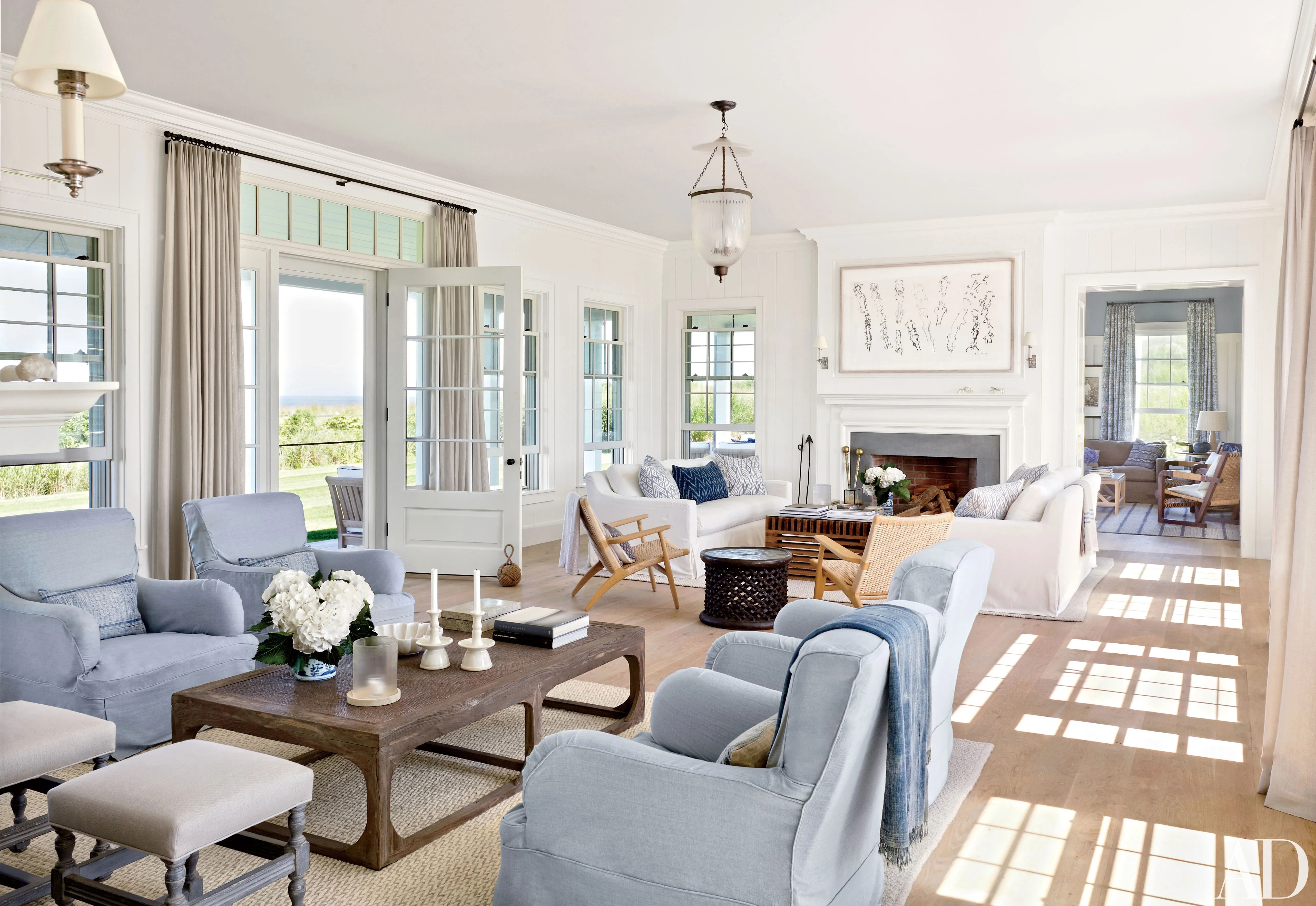 Hampton Style Living Room 15 Designers Own Homes Photos Architectural Digest