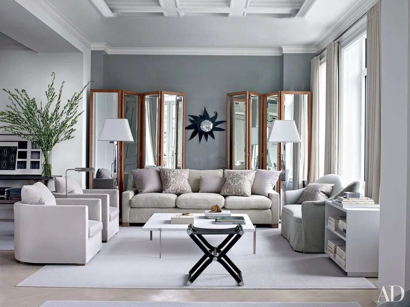 A Living Room Design What Not To Do When Decorating With Gray Architectural Digest