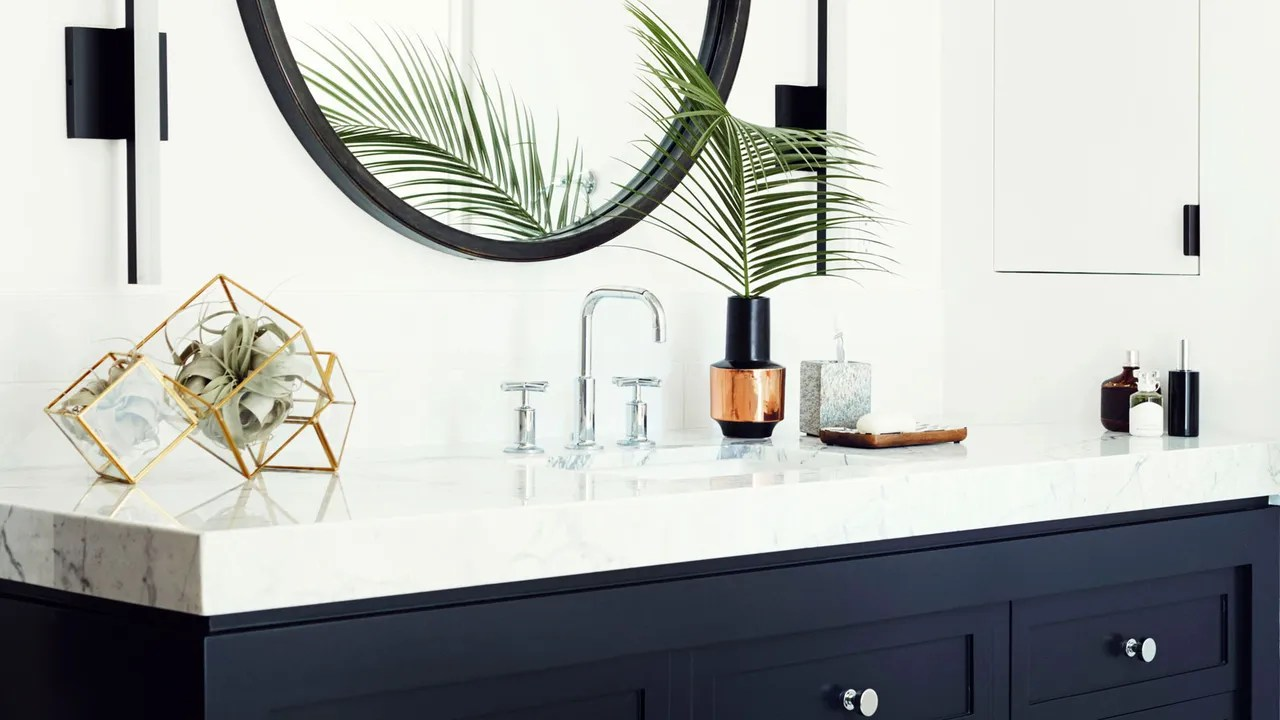 12 Deep Bathroom Vanity Cut Your Countertop Material Costs In Half With This Design Trick