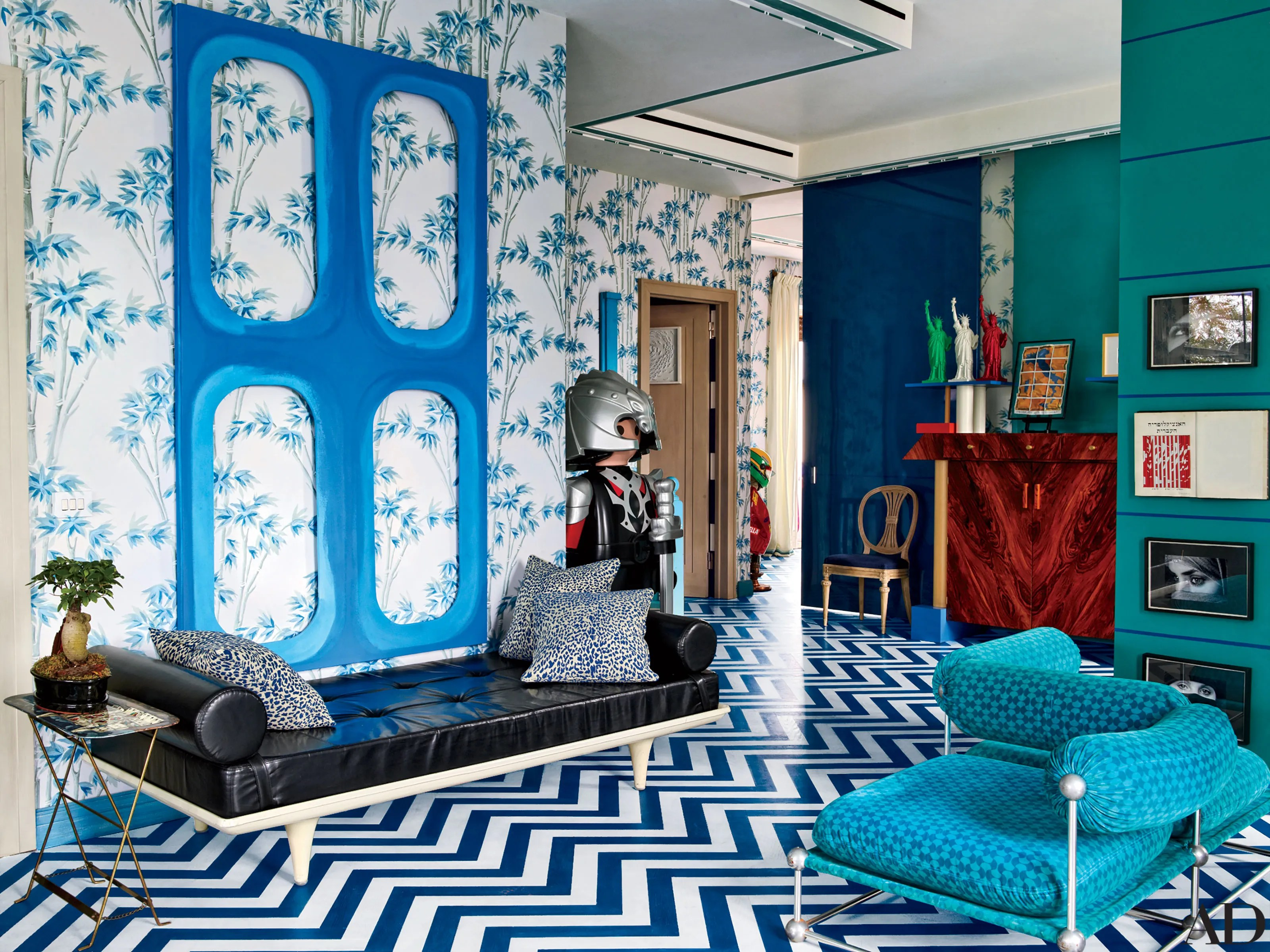 Teal Pictures Bedroom 30 Rooms That Showcase Blue And White Decor Architectural Digest