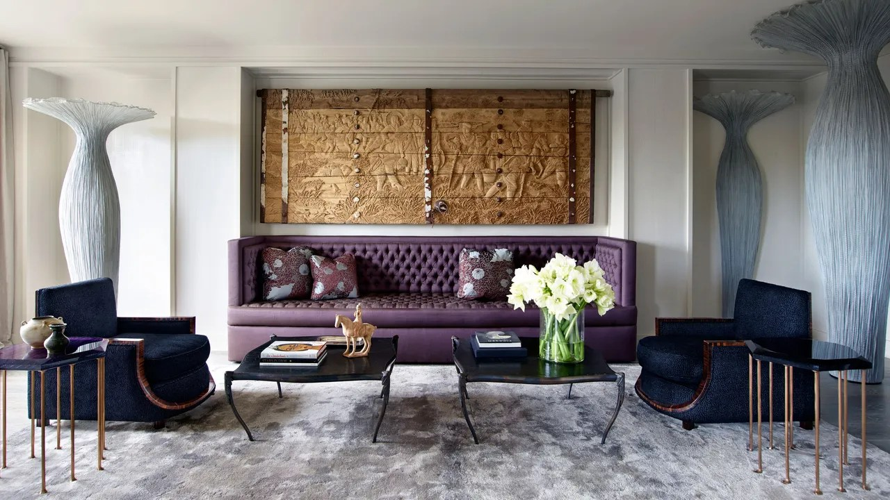 Banquette Deco A Glamorous New York Apartment That Pays Homage To Its Art Deco