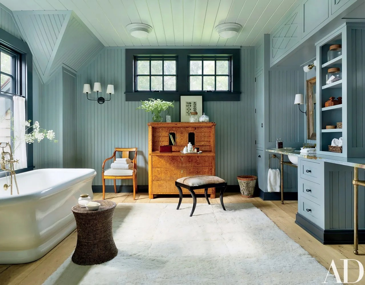 Two Tone Dining Room 10 Best Bathroom Paint Colors Photos | Architectural Digest