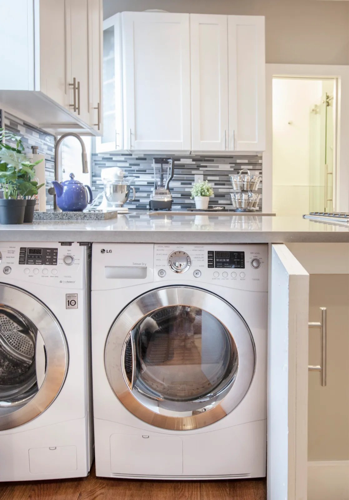 Laundry Room Countertop Material 9 Small Laundry Room Ideas For The Tiniest Of Apartments