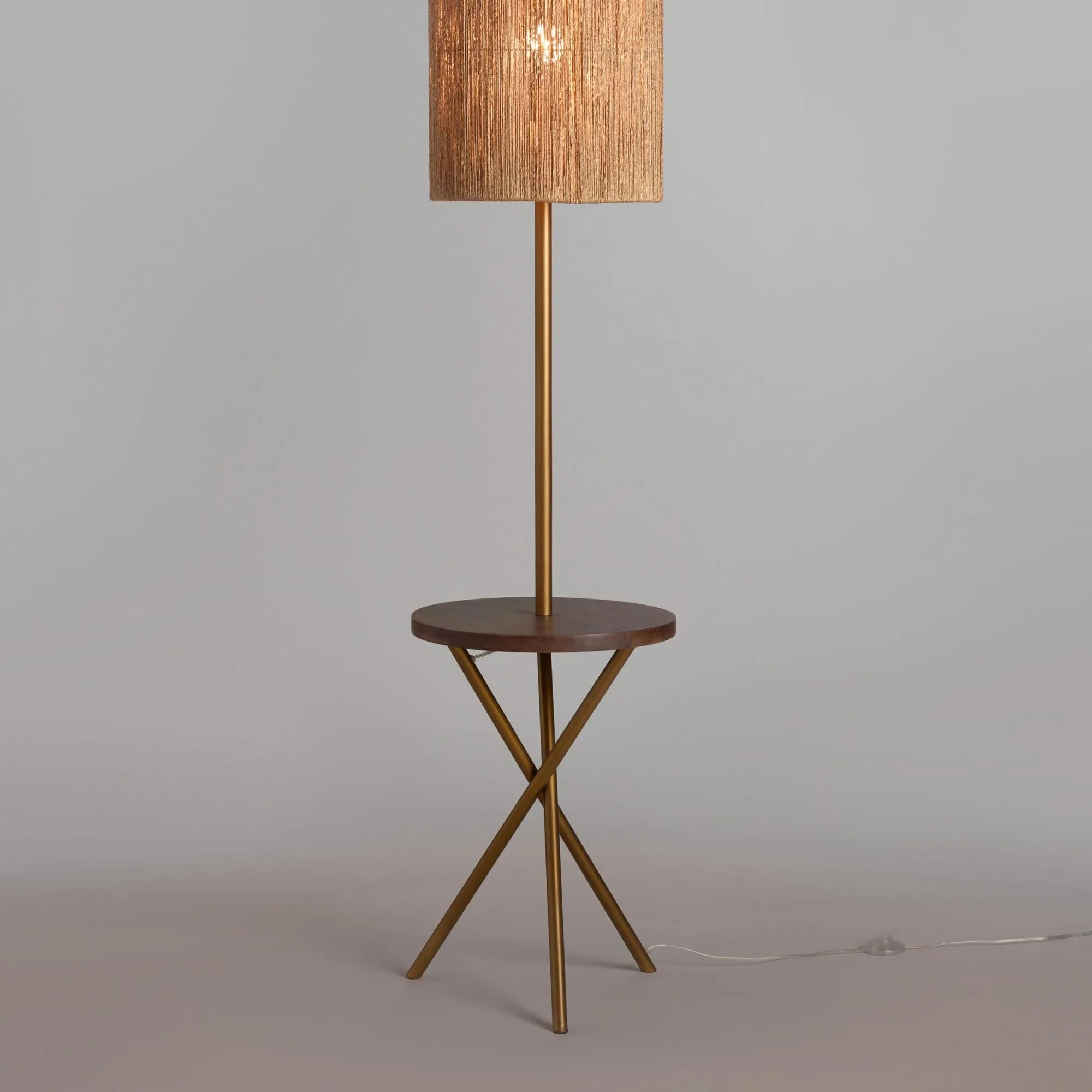 Gold Floor Reading Lamp 10 Floor Lamps With Tables Attached That Don T Look Like Your