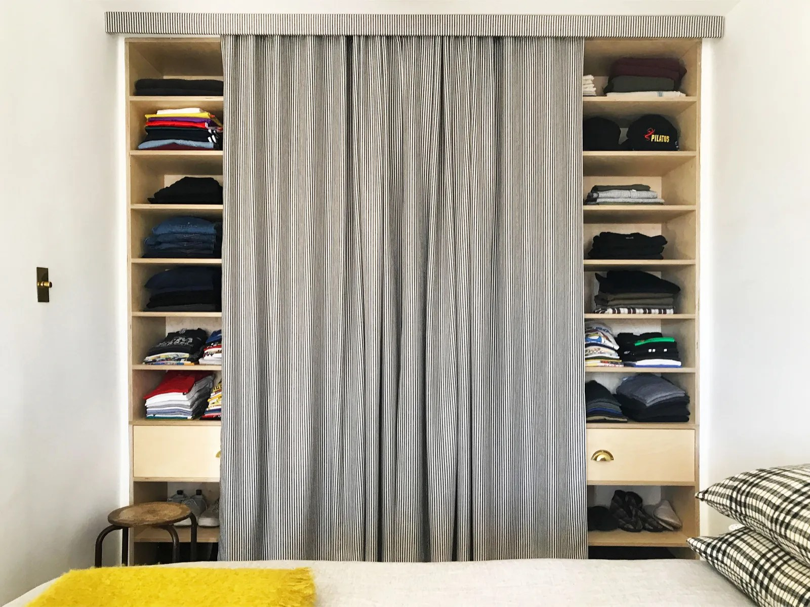 Closet Curtain Ditch Your Closet Doors For A Tailored Curtain Architectural Digest