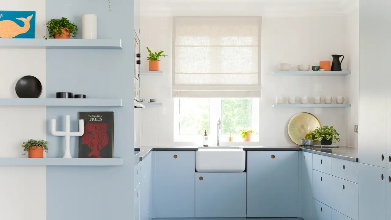 Pale Blue Kitchen Blue Kitchen Cabinets Are The Star Of This Renovation