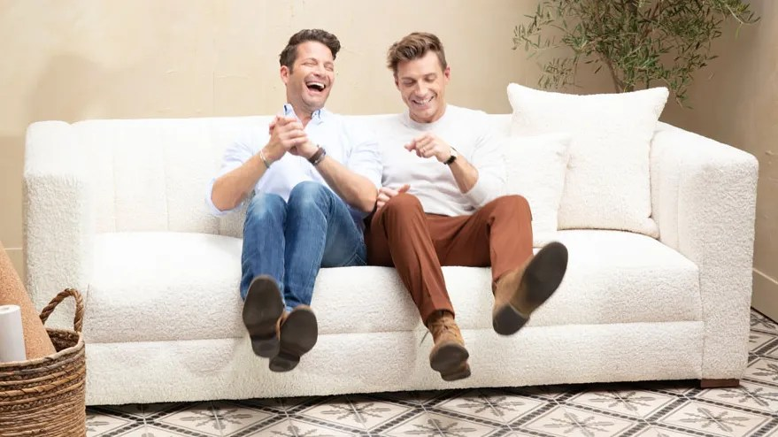 Sofa Orange Nate Berkus And Jeremiah Brent Just Launched New Sofas—and