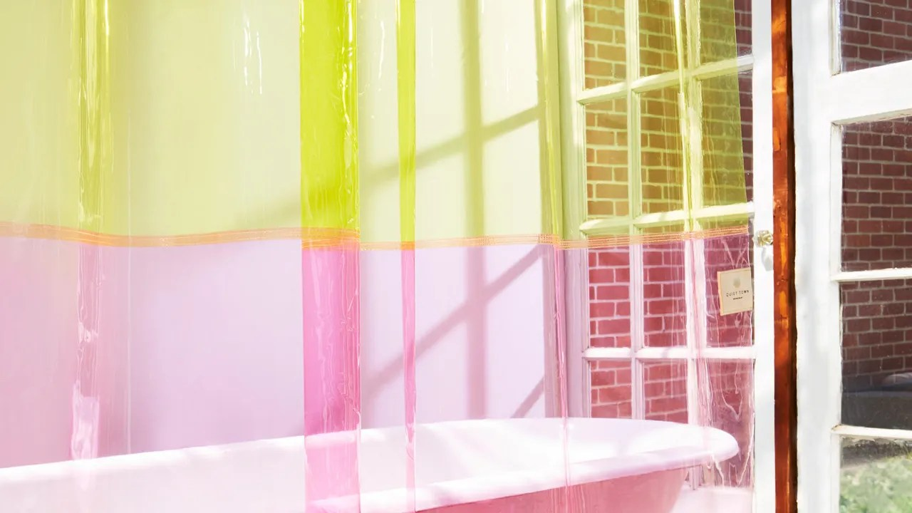 Glass Shower Curtains New Shower Curtains From Quiet Town 4 More Clever Finds