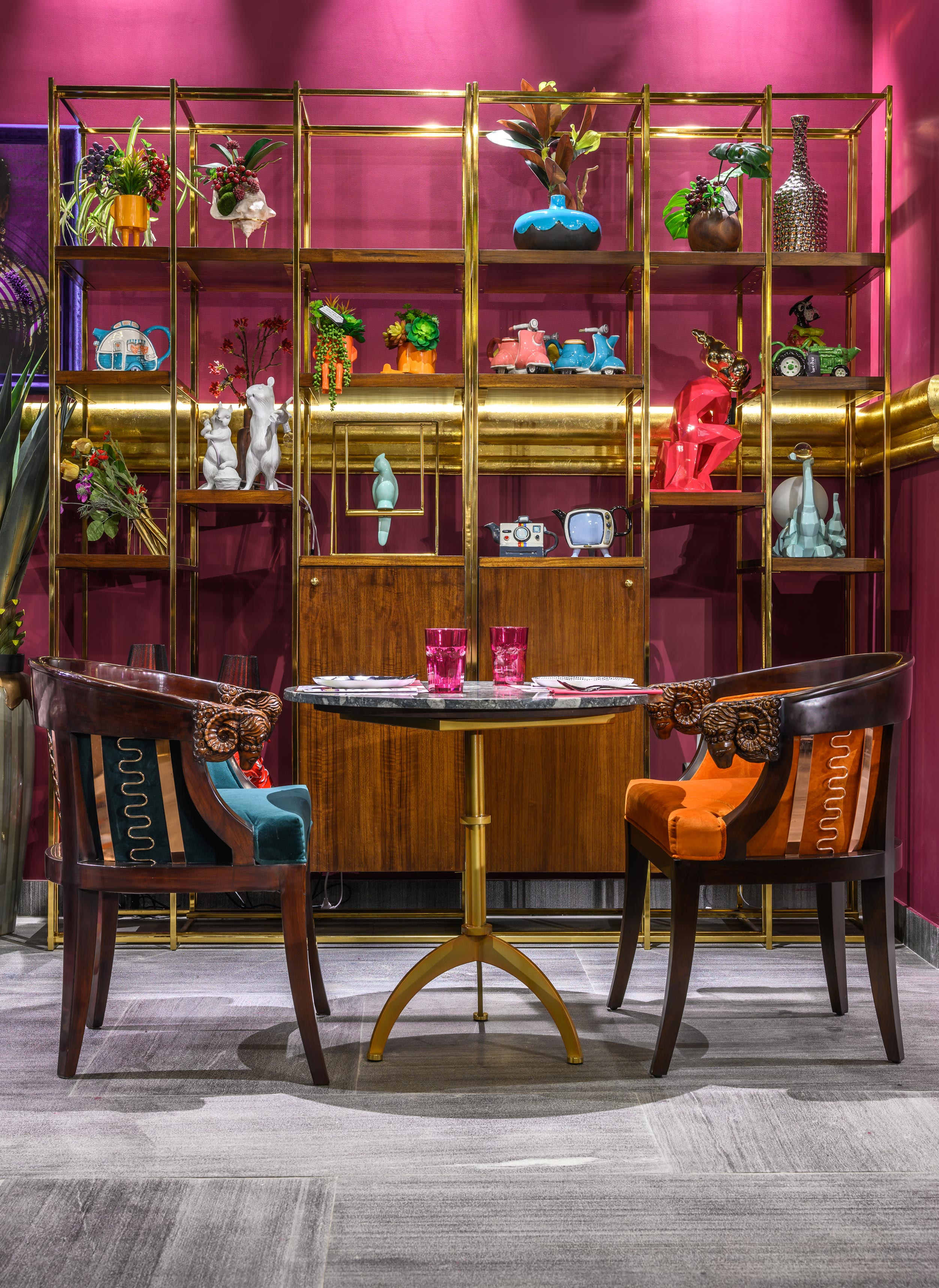 Sofa Industrial Alice Would Feel At Home In Delhi's New Wonderland Plum By