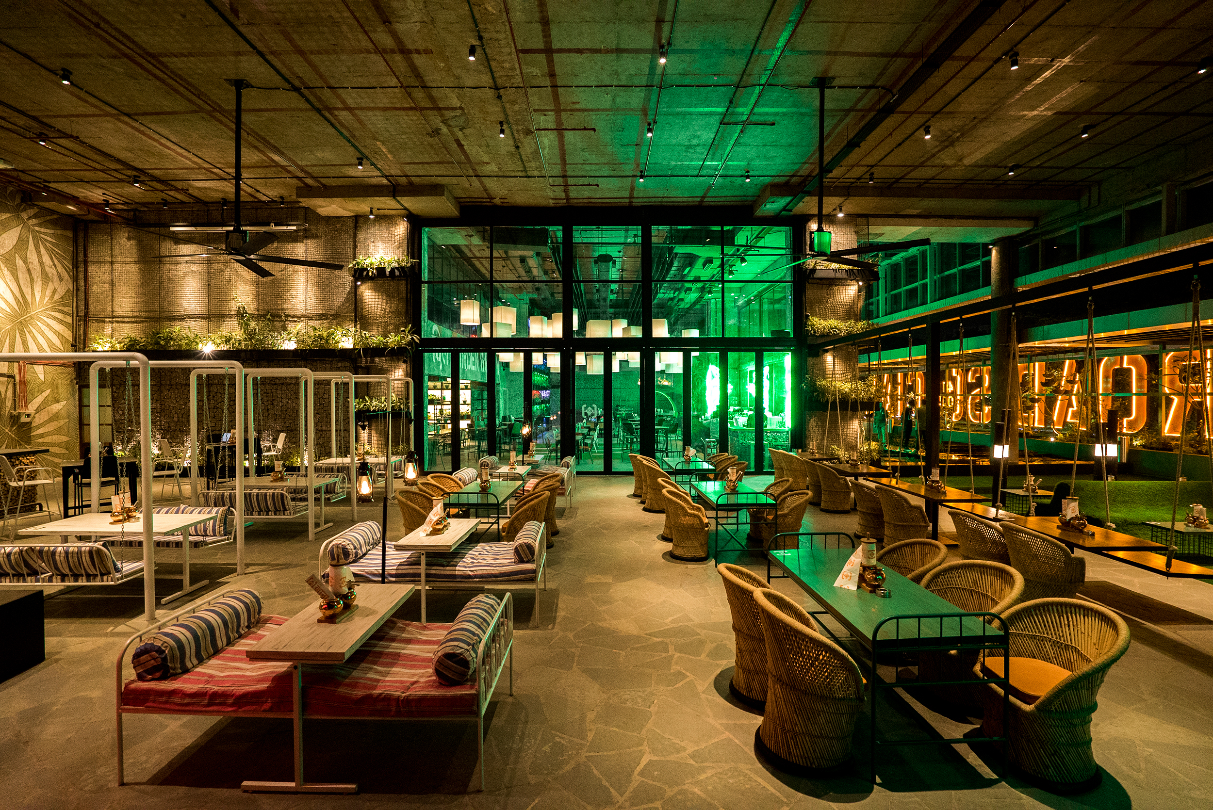 Indoor Walkway Lighting Pune: Raise A Toast Inside The Garden-themed Fc Road Social