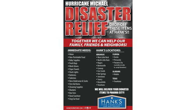 Texarkana store accepting disaster relief items - Disaster Relief Flyer