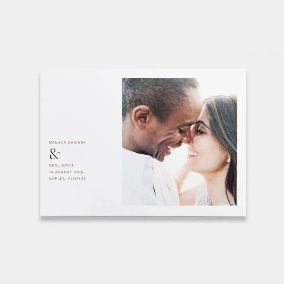 Simple Save The Date Photo Card Artifact Uprising