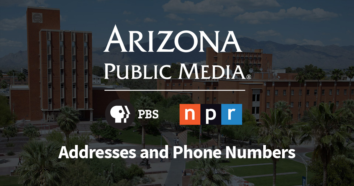 About Addresses and Phone Numbers - AZPM