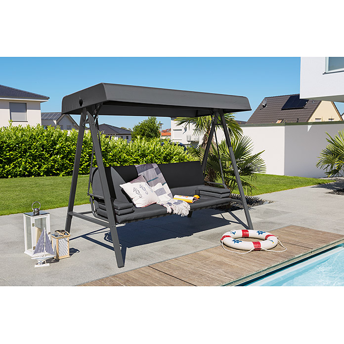 Sunfun Maja Hollywoodschaukel 230 X 135 X 188 Cm - Hollywoodschaukel Bauhaus