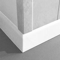LOGOCLIC Fuleiste K 58 (Wei Hochglanz, 2,6 m x 10 mm x ...
