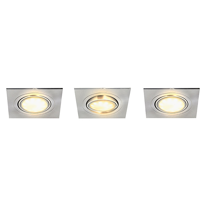 Treppen Led Spots Tween Light Led-einbauleuchten-set (3 X 5 W, Eckig, Nickel