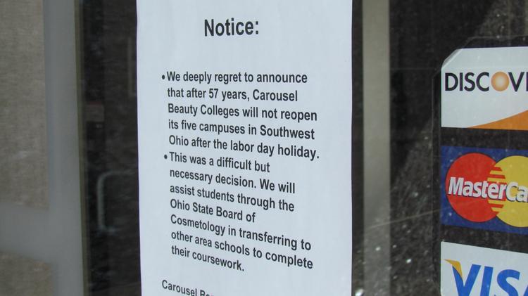Carousel Beauty College shuts down 5 Dayton campuses - Dayton