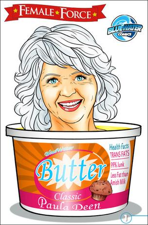 Paula Deen stars in the latest Female Force comic book installment from Vancouver's Bluewater Productions.