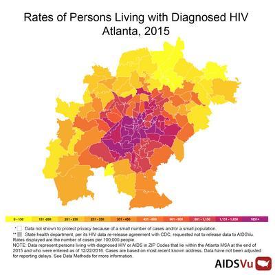 New maps show HIV/AIDS\u0027 staggering impact in Atlanta (SLIDESHOW