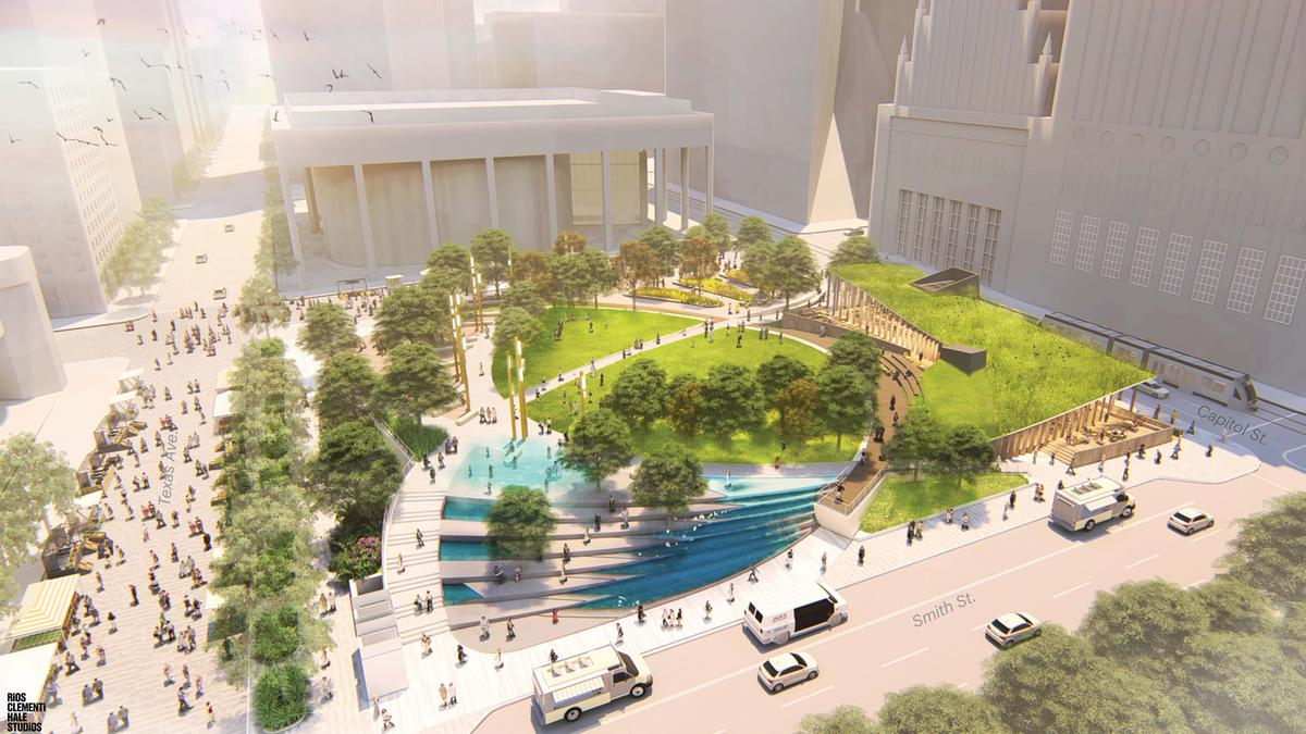 Landscape Architect Houston Jones Plaza Renovation Project In Downtown Houston S Theater