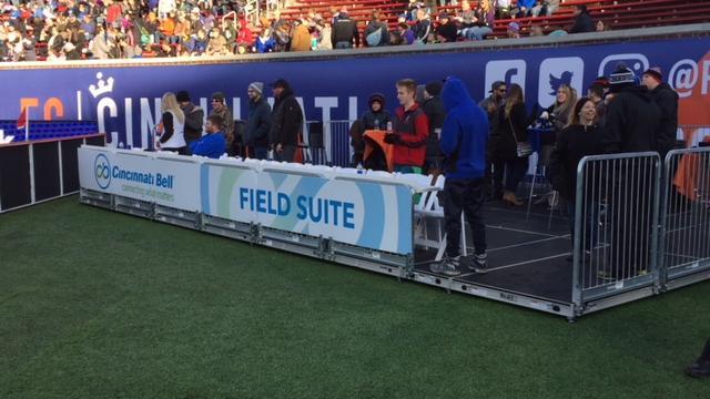 FC Cincinnati adds on-field suites at Nippert Stadium - Cincinnati
