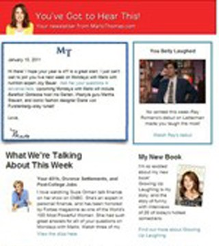My Weekly Newsletter - Marlo Thomas