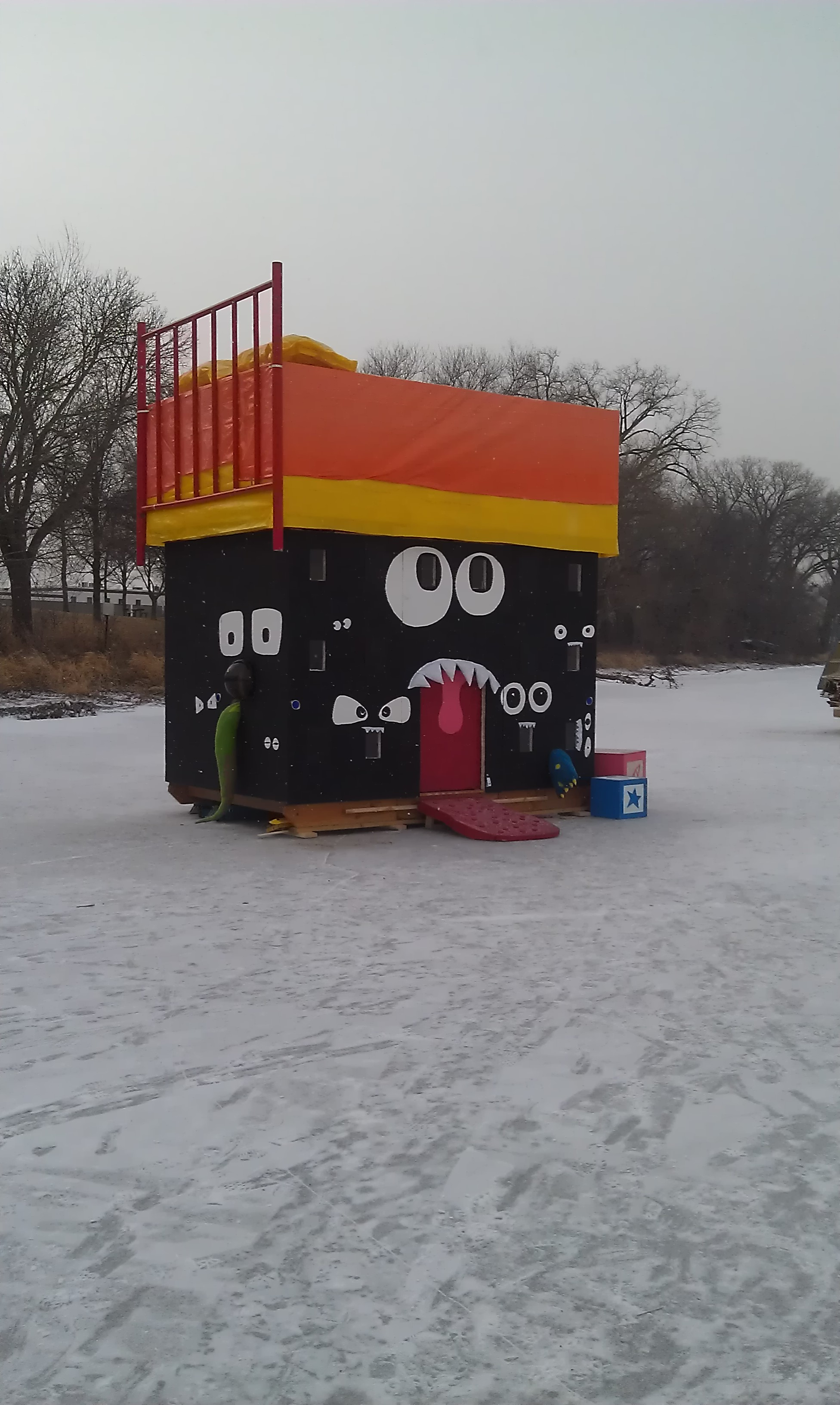 How to build an art shanty boing boing for How much to build a house in mn